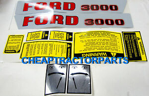 3000 Ford Tractor Decal Set 3000 Ford 1965 1968 Decal Set