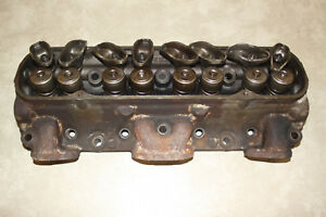 Pair 1961 1962 Pontiac Heads From A Running Car Complete With Valves Rockers