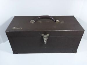 Vintage Kennedy Brown Tackle Utility Tool Machinist Box W tray Cs 16