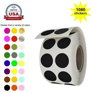Round Dot Color Coding 1 2 Inch Stickers 13mm Circle Labels For Crafts 1080 Pack