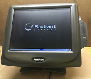 Radiant Pos P1520 Touch Screen Terminal Credit Card Reader Fingerprint Barcode