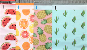 40 Designer Printed Poly Mailers 10x13 Shipping Envelopes Bags Mix 3 Cactus