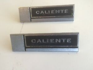 1965 Original Comet Caliente Inside Door Emblems 2