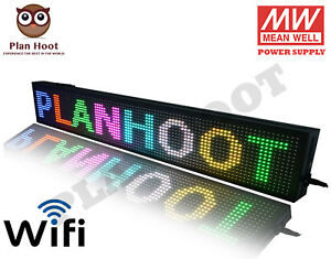 40 x8 Led P13 Pixels Rgb 7 Color Wifi Usb Indoor Semi outdoor Scrolling Sign