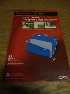 Pendaflex 2 Capacity Hanging File Folders Legal Blue 25 box pfx4153x2blu
