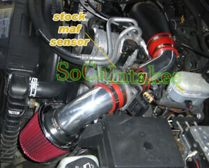 Red Cold Air Intake System Kit filter For 1996 2005 Chevy Blazer 4 3l V6