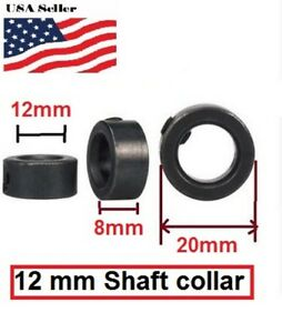 12mm Shaft Lock Collar Black Oxide Steel