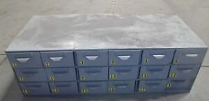 Vintage Lyon Parts Bin Cabinet 18 Drawers Mechanics Super Shipping Special
