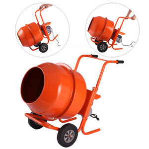 5cuft Concrete Cement Mixer Portable Electric Barrow Machine 1 2hp Mixing Mortar