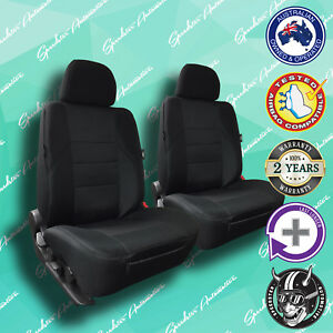 Ford Falcon Black Front Car Seat Covers High Quality Elegant Jacquard