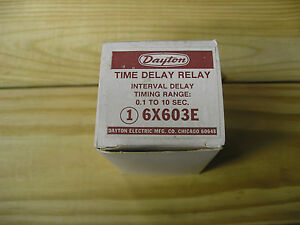 Dayton Time Delay Relay