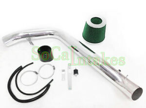 Black Green Cold Air Intake Kit Filter For 90 93 Acura Integra Ls Rs Gs Gsr Se