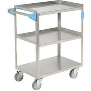 Carlisle Stainless Steel Utility Transportation Cart 300 Lb Capacity