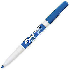 Sanford 174 Expo Dry Erase Marker Fine Nontoxic Blue Ink Dozen Lot Of 1