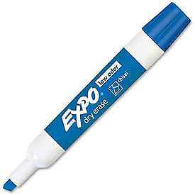 Sanford 174 Expo Low Odor Dry Erase Marker Chisel Tip Blue Ink Dozen Lot
