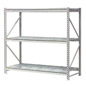 Extra High Capacity Bulk Rack With Wire Decking Starter Unit 96 w X 48 d X