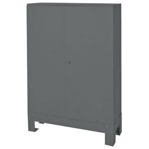 Durham Steel Storage Parts Bin Cabinet With Doors 33 3 4x12x42 56