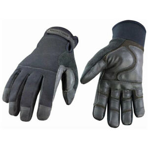 Military Work Glove Waterproof Winter Black Large 1 Pair Lot Of 1