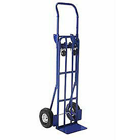 Steel 2 in 1 Convertible Hand Truck With Pneumatic Wheels Lot Of 1
