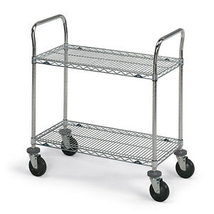 Metro Stainless Steel Wire Utility Carts 36 w X 18 d X 39 h Lot Of 1