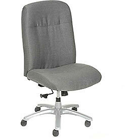 Big Tall Chair Fabric Upholstery Gray Lot Of 1