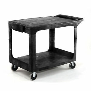 Rubbermaid 4505 Flat Shelf Plastic Service Utility Cart 39 X 17 39 l X 17 w X