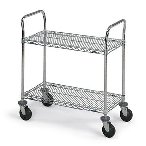 Metro Shelf For Stainless Steel Wire Utility Carts 36 w X 24 d Lot Of 1