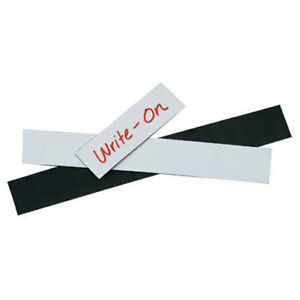 3 x4 Warehouse Labels Magnetic Strips White 25 Pack Lot Of 1
