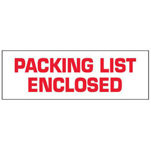2 x110 Yds Printed Carton Sealing Tape packing List Enclosed White red