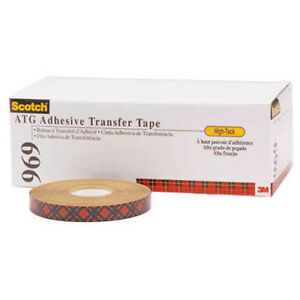 Adhesive Transfer Tape 1 4 X 18 Yds 5 Mil Clear Pack Of 6 3m 969 Lot Of 6