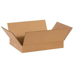 14 x10 x2 Flat Corrugated Boxes 200lb Test ect 32 25 Pack Lot Of 1