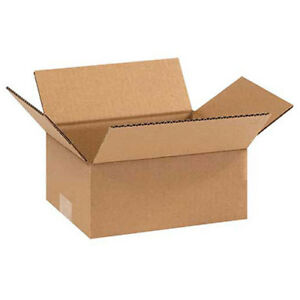 9 x7 x3 Flat Corrugated Boxes 200lb Test ect 32 25 Pack Lot Of 1