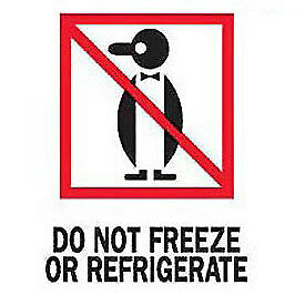 3 X 4 Do Not Freeze Or Refrigerated Labels 500 Per Roll Lot Of 1