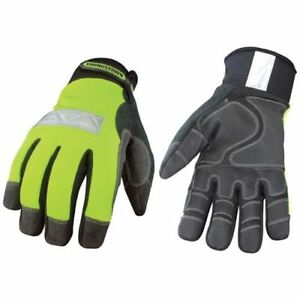 High Visibility Performance Gloves Safety Lime Winter Medium Lime black 1