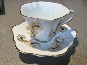 Vintage Rosina Bone China Tea Cup And Saucer Made In England
