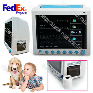 Veterinary Patient Monitor Vet Vital Signs Monitor With Printer 6 Parameters usa