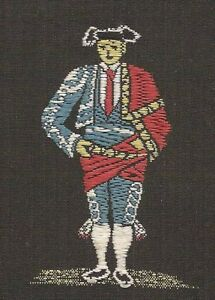 Vintage Tobacco Cigarette Woven Silk Use In Crazy Quilt Rare Spanish Man
