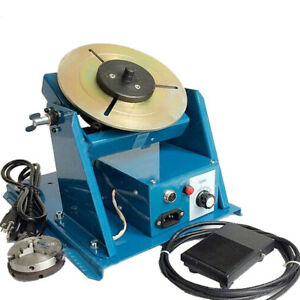 110v Rotary Welding Positioner Turntable Table Mini Jaw Lathe Chuck