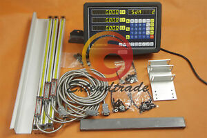 3 Axis Digital Readout Dro Linear Scale 250 550 600mm For Milling Lathe Machine