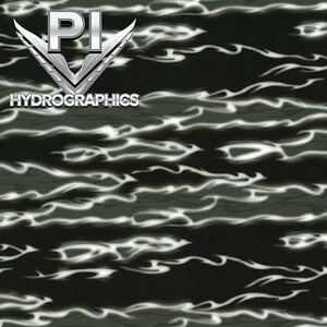 Hydrographic Film Hydrodipping Water Transfer Hydro Dip Black Flames Fire Ll1307