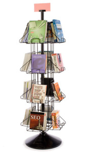 Extra Deep 16 Pocket Rotating Wire Literature Book Display Stand