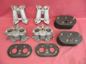 Solex 40 P11 4 Carburettors Intake Manifolds Knecht Air Filters Porsche 356 912