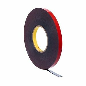 3m 06386 Automotive Acrylic Plus Attachment Tape Black 45 Mil 1 4 In X 20 Yd
