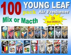 100 Pack Wakaba Japan Treefrog Young Leaf Air Freshener assorted Or Mix