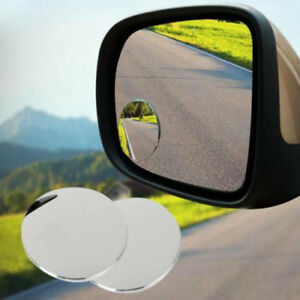 2x Wide Angle Round Convex Blind Spot Mirror For Car Auto Rear View Universal 1
