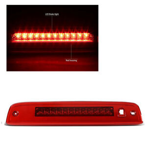 For 03 16 Expedition lincoln Navigator Rear Mount Led 3rd Brake stop Light Red