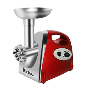 Zokop Electric Meat Grinder Mincer Stainless Steel Air Cooling Stuffer 1200w Red