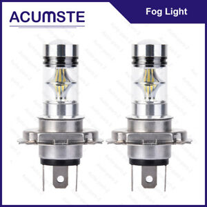 2x 6000k H4 9003 Hb2 100w White Cree Led Fog Hi Lo Beam Light Bulbs Driving Drl