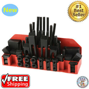 58 Pc Pro series M12 T slot Clamping Kit Bridgeport Mill Set Up Set New