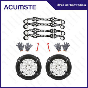 6pcs Car Tire Anti skid Chains Thickened Tendon Wheel Chain For Snow Mud Road